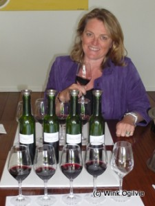 Armelle Falcy-Cruse of Château du Taillan, preparing the blending workshop