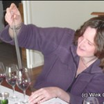 Sally blending Bordeaux wine