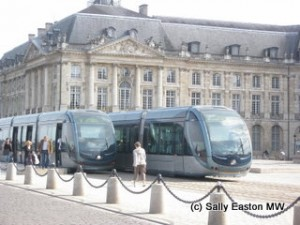 Trams at the Bourse