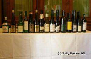 Aged grüner veltliner tasting line up