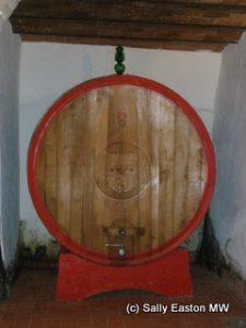 Large oak cask