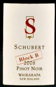 Schubert, Block B Pinot noir 2008