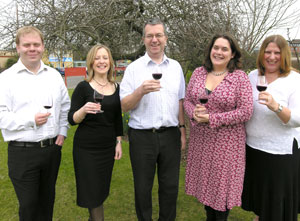 Wine Society tasting team