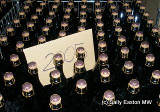 Cava bottles